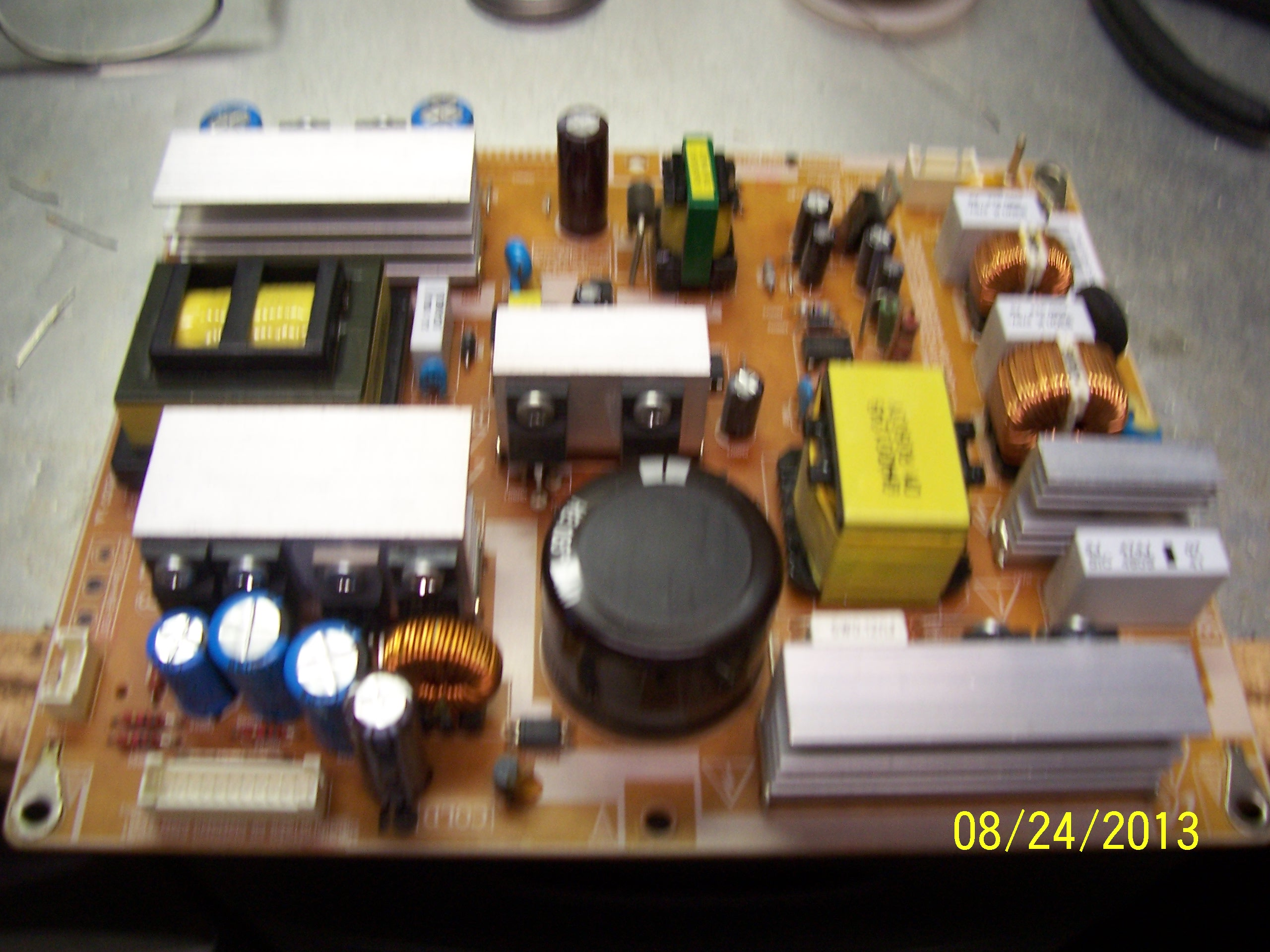Picture of the TV Power Supply Board with good capacitors installed